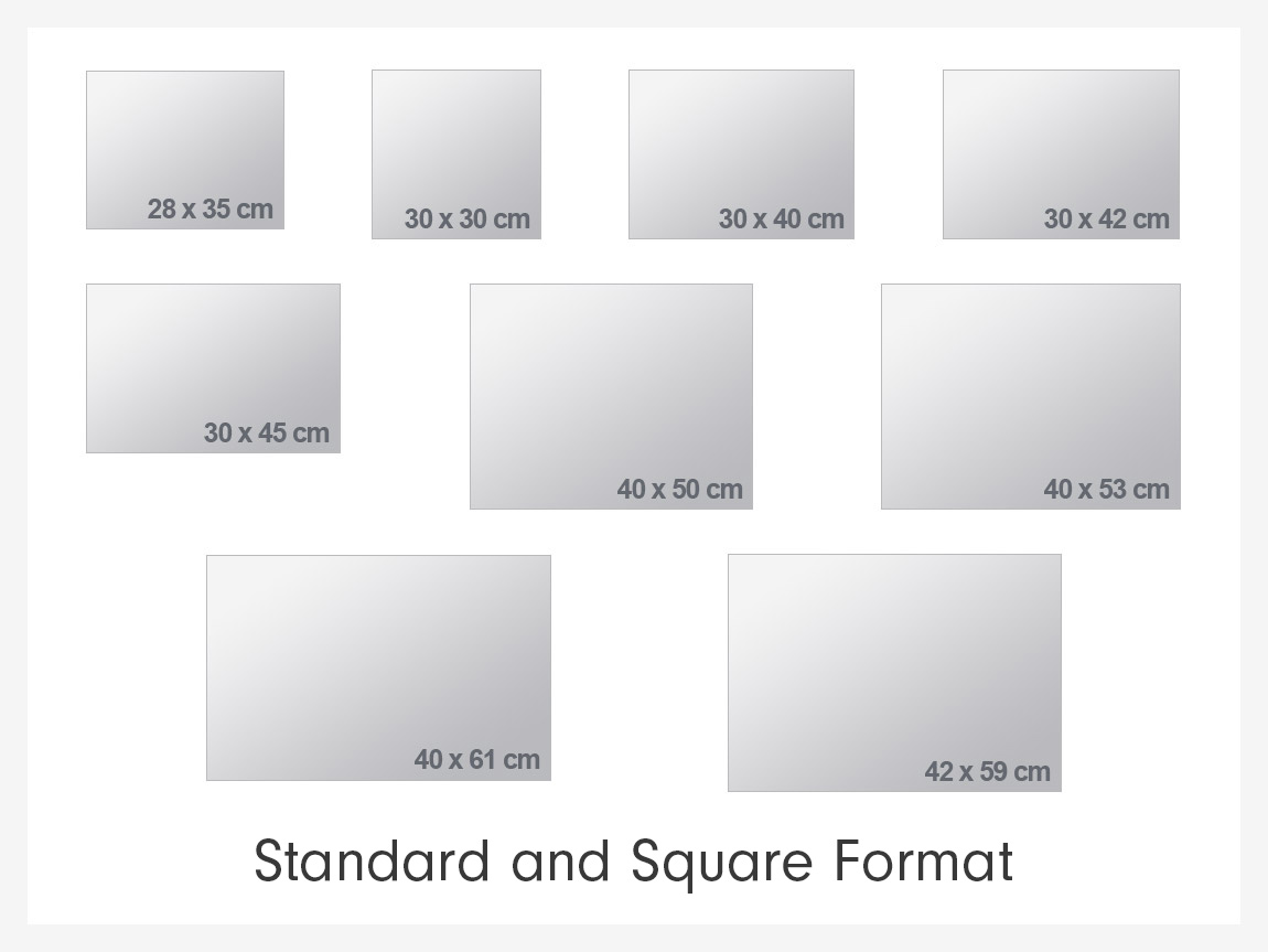Poster frame size guide