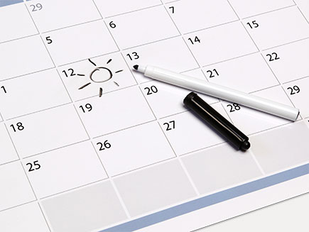 annotated date on calendar
