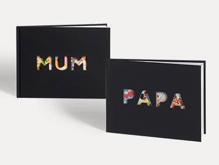 """Livre Photo avec découpe """"Maman"""" ou """"Papa"""" sur la couverture"""