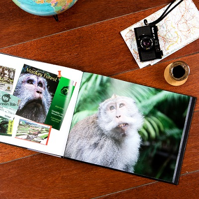 Photobook with collection of photos from travels