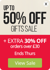 up to 50% OFF + save an EXTRA 30% on orders over £30
