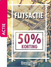 FLITSACTIE 50% korting op een selectie artikelen