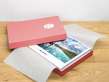 Photo album wrapped in protective box