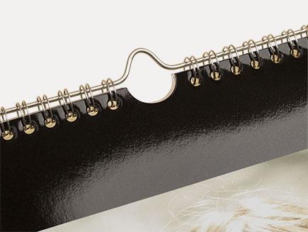 close-up of calendar hanging hook