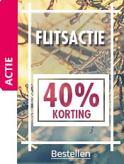 FLITSACTIE 40% korting op een selectie artikelen