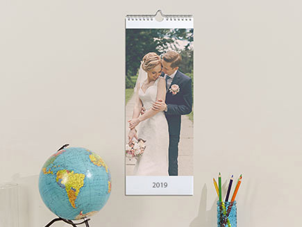 Slim Calendar hung up