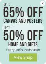 Up to 65% OFF Canvas and Posters + Up to 50% OFF Home and Gifts