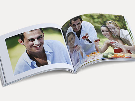 Personalised layout of small soft cover photo book