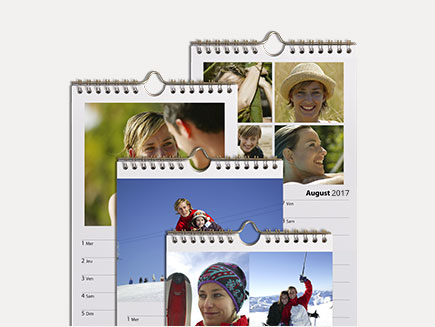 collection of slim calendars