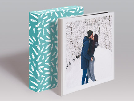 Square Premium Photo Book with wedding photos