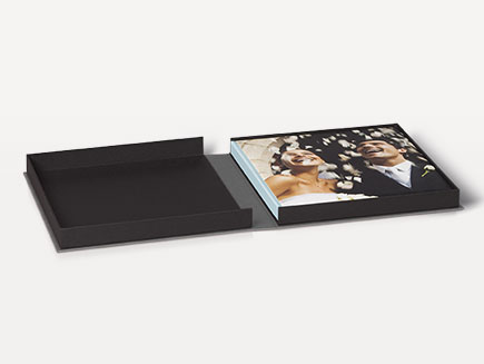 Premium photo book in stylish clamshell box