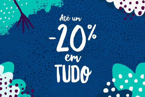 Encomendas superiores a 40€:-20% de desconto