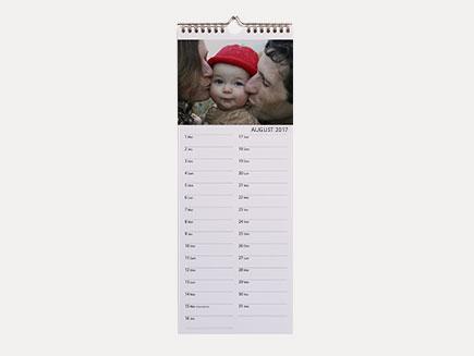 slim calendar on wall