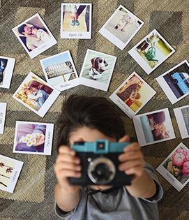 Uma atividade manual para oferecer fotos