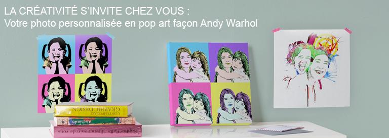 Votre photo personnalisée en pop art façon Andy Warhol
