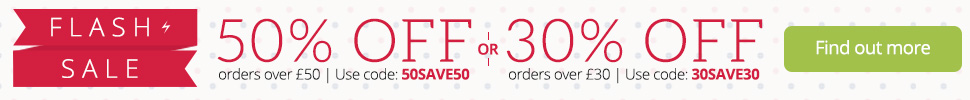 FLASH SALE - up to 50% off