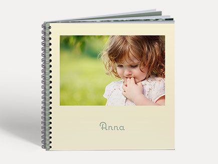 Square spiral photo book