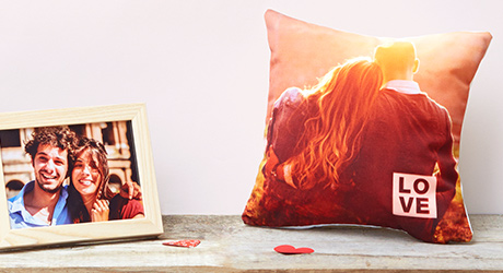 Personalised Photo Cushions for Valentine's Day