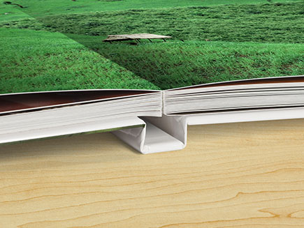 Book lay perfectly flat