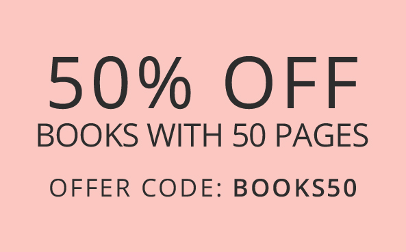 50% off Books with 50 pages Hurry, offer ends soon