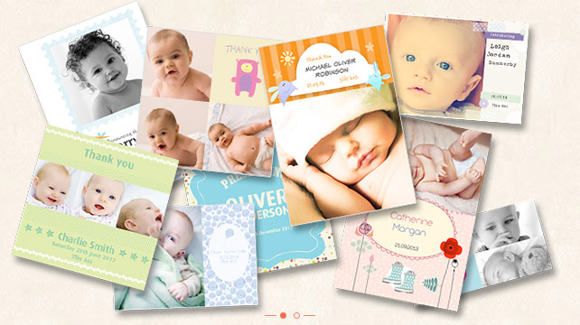 25 Off Baby Announcement Thank You Cards Photobox