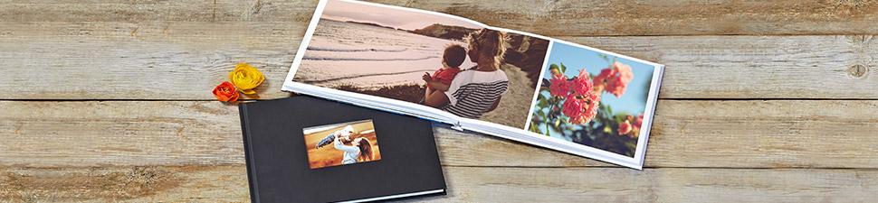 Fotobok med flera teman och layouter