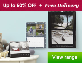 Calendars & Diaries - up to 50% OFF + Free Delivery