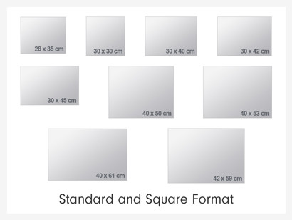 classic poster sizes photobox