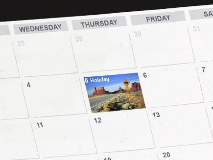 personalised date on calendar