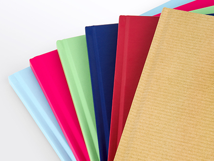 Various colours of photo books