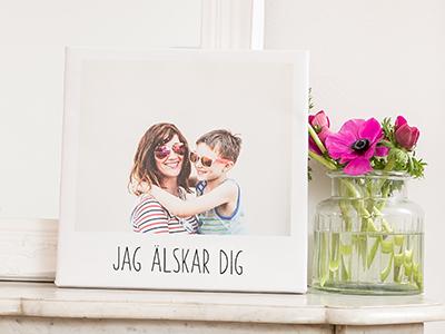 Canvastavla i retrostil med mor och barn