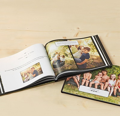 Photo book with old photos in