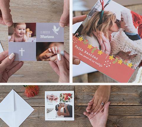 Felicitacion Navidad Personalizada Fotos.Tarjetas Y Postales Personalizadas Crea Tus Disenos Hofmann