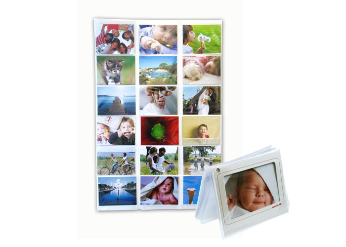 Porte photo vos tirages comme d co photobox - Porte cartes postales mural ...