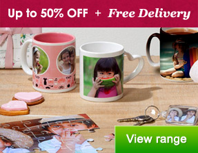 Mugs & Home Gifts - up to 50% OFF + Free Delivery