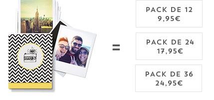 pack de 12 9,95€. Pack de 24 17,95€. Pack de 36 24,95€