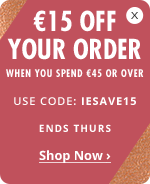 €15 Off Your Order When you Spend €45 or over