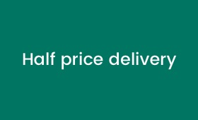 Half Price Delivery valid on all delivery methods