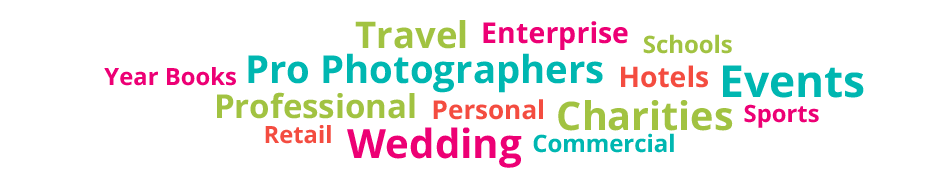 Travel Enterprise Schools Year Books Pro Photographers Hotels Events Professional Personal Charities Sports Retail Wedding Commercial