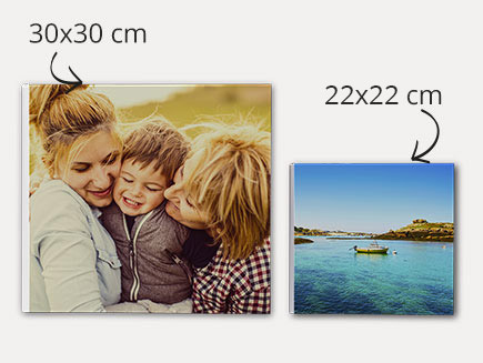 30x30cm & 22x22cm square lay flat photo books