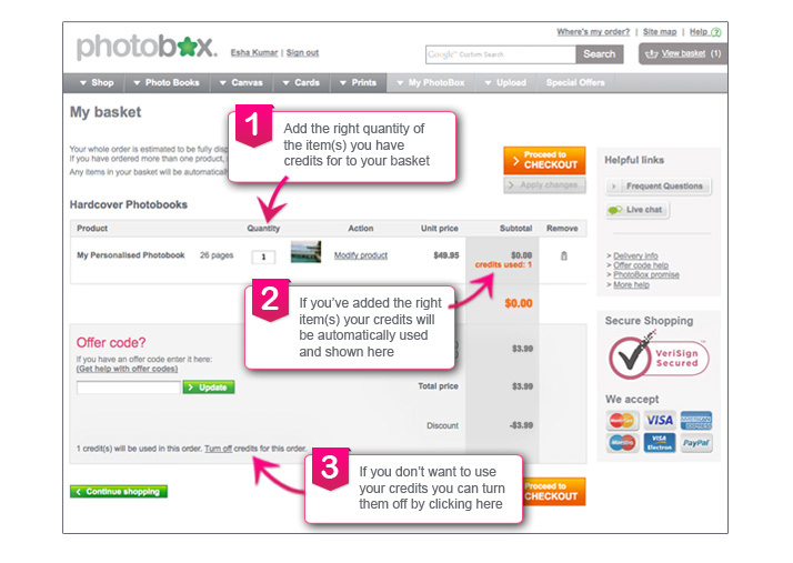 Photobox chat