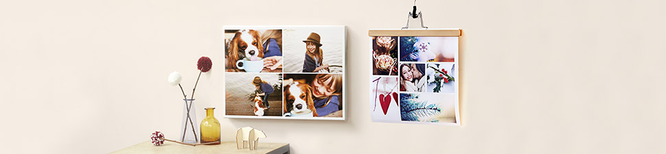 Photo collage products to hang on wall