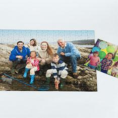 Puzzle Ravensburger avec la photo d'une famille