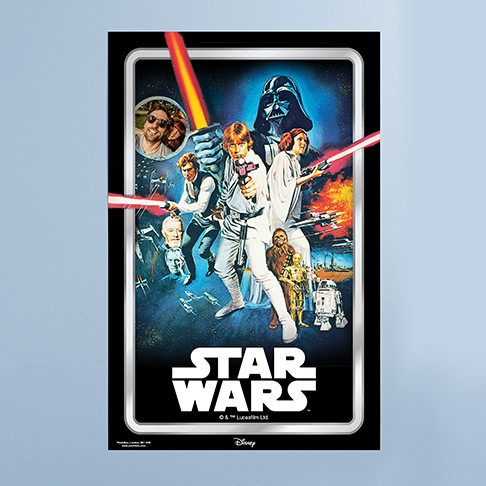 Personalised Star Wars Poster with man's photo