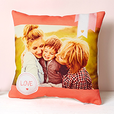 Photobox cushion; proceeds support breast cancer care