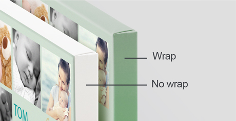 Canvas with wrapped edges and without
