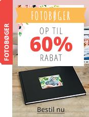 Fotobøger Op til 60% rabat