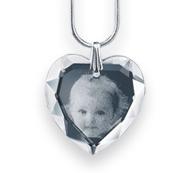 O Pingente coração de cristal