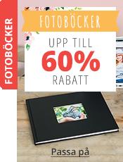 Fotoböcker Upp till 60% rabatt