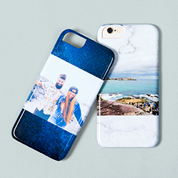 Phone case with travel photo printed on